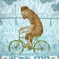 portland bigfoot poster portland