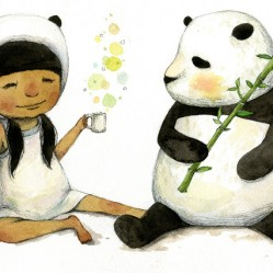 Having-Tea-Time-with-a-Panda